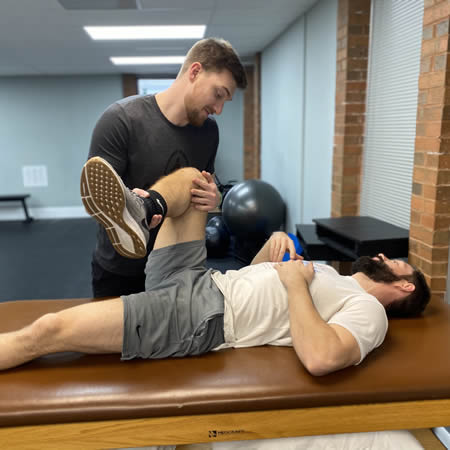 Stretching Leg at Active Physical Therapy