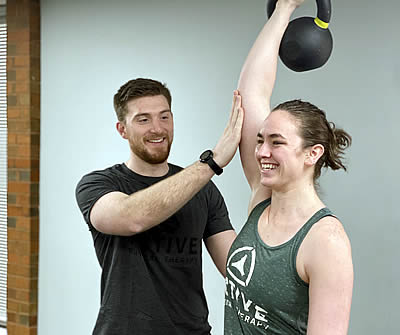 Working with Kettle Bell at Active Physical Therapy